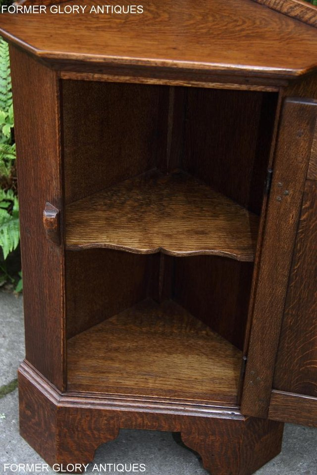 Image 96 of A NIGEL RUPERT GRIFFITHS CARVED OAK CORNER CABINET CUPBOARD