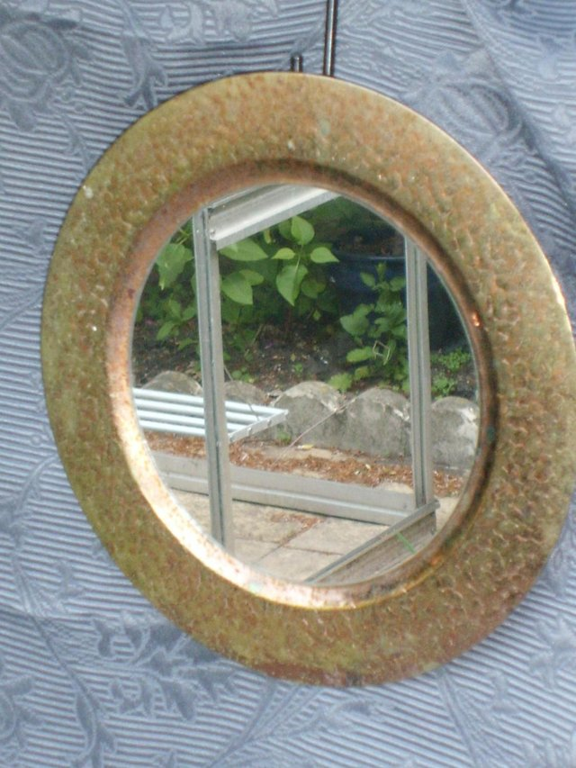 Preview of the first image of Small Shabby Chic Metal Surround Porthole Mirror.