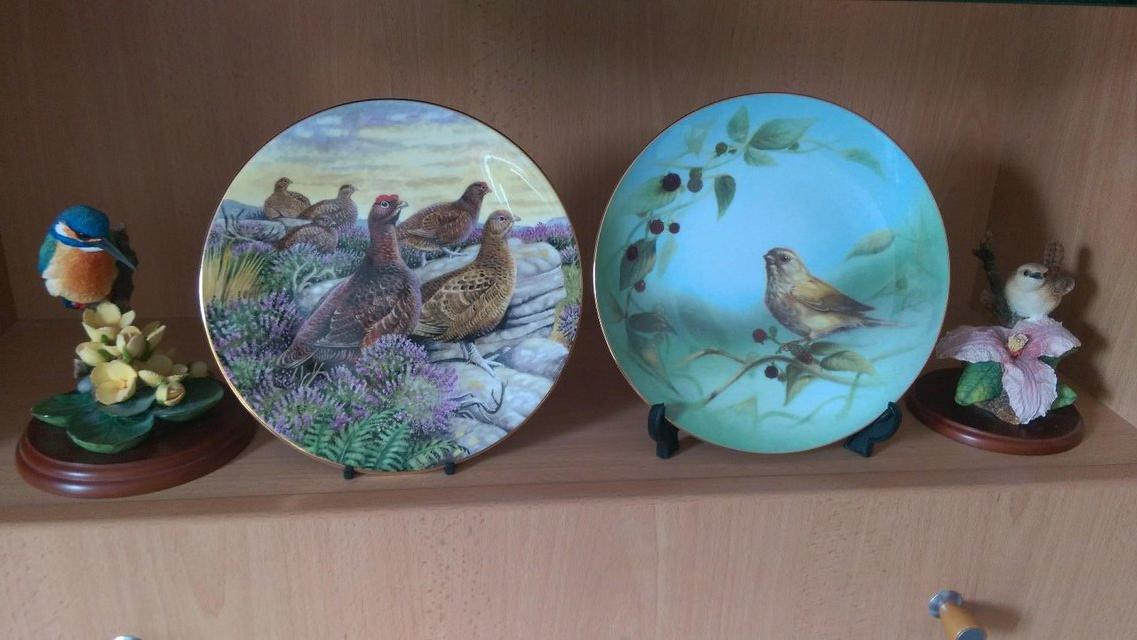 Preview of the first image of 4 COUNTRY ARTISTS BIRD THEMED ORNAMENTS.