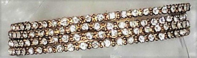 Image 2 of Indian gold and diamante slim bangles x 4