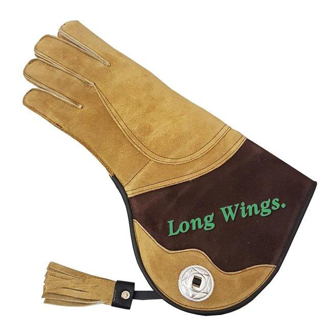 Image 2 of Falconry Suede leather Winter Gloves Wool Lining.