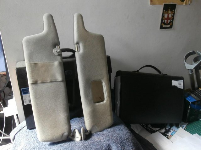 Preview of the first image of A Pair of Sunvisors for Delica Space Gear L400 SWB Motor.