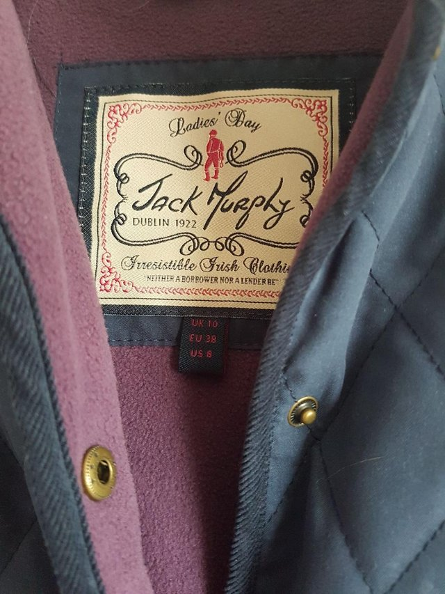 Image 2 of Jack Murphy Quilted Jacket with Fleece Lining Size 10