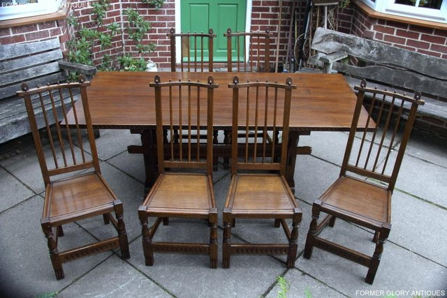 Image 2 of A NIGEL RUPERT GRIFFITHS OAK DINING SET TABLE & SIX CHAIRS
