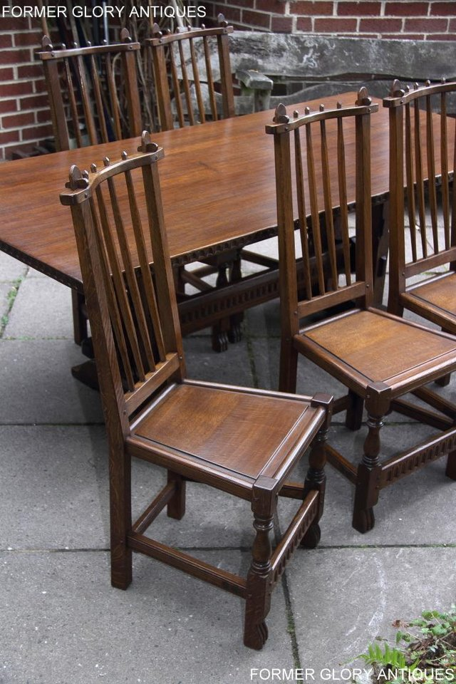 Image 4 of A NIGEL RUPERT GRIFFITHS OAK DINING SET TABLE & SIX CHAIRS