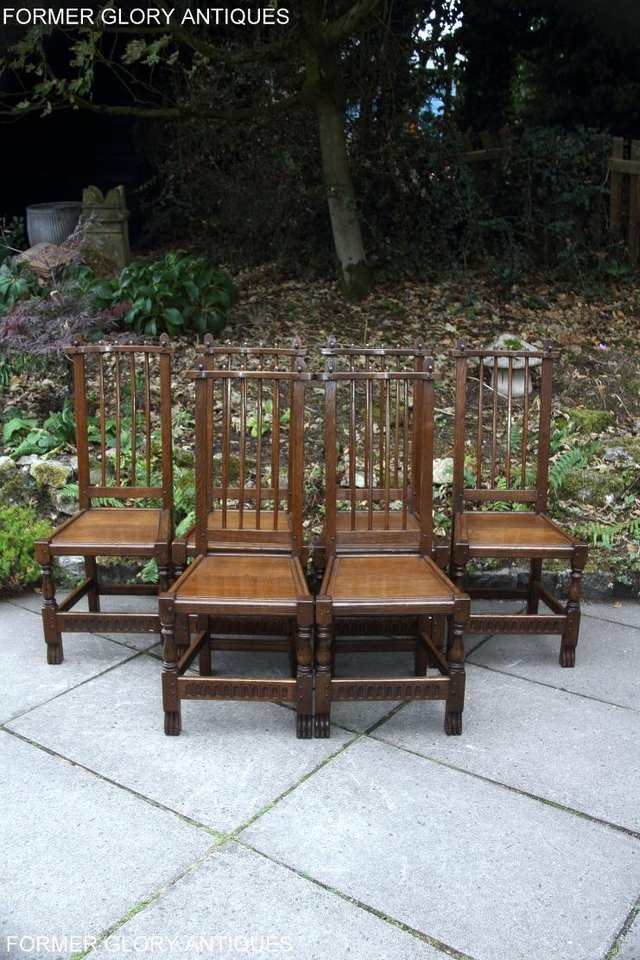 Image 13 of A NIGEL RUPERT GRIFFITHS OAK DINING SET TABLE & SIX CHAIRS