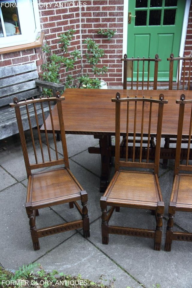 Image 21 of A NIGEL RUPERT GRIFFITHS OAK DINING SET TABLE & SIX CHAIRS