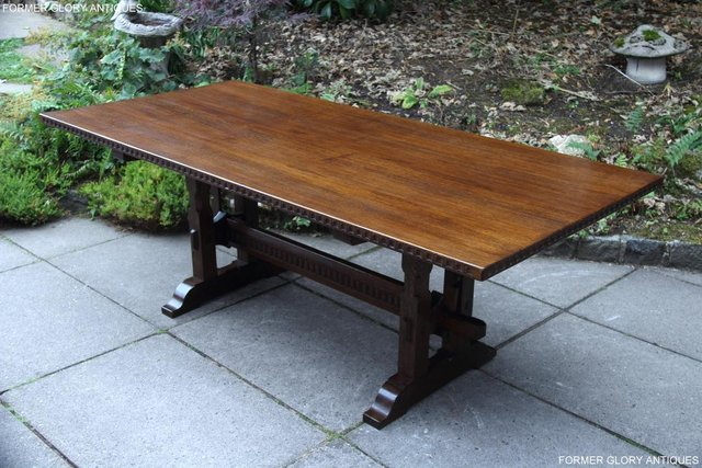 Image 22 of A NIGEL RUPERT GRIFFITHS OAK DINING SET TABLE & SIX CHAIRS