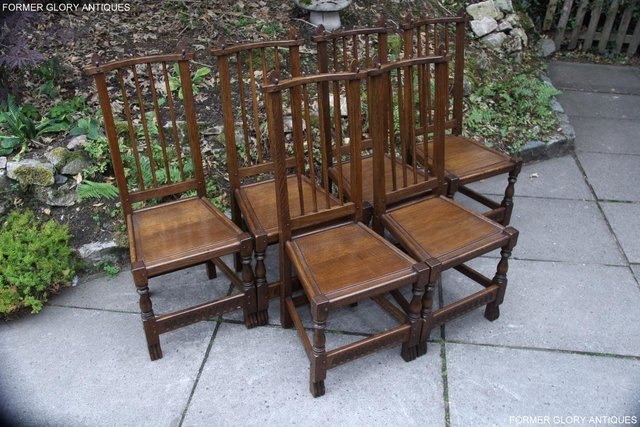 Image 24 of A NIGEL RUPERT GRIFFITHS OAK DINING SET TABLE & SIX CHAIRS