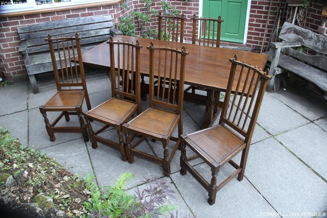 Image 33 of A NIGEL RUPERT GRIFFITHS OAK DINING SET TABLE & SIX CHAIRS