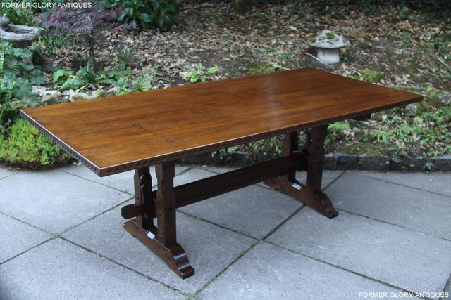Image 40 of A NIGEL RUPERT GRIFFITHS OAK DINING SET TABLE & SIX CHAIRS