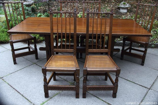 Image 44 of A NIGEL RUPERT GRIFFITHS OAK DINING SET TABLE & SIX CHAIRS