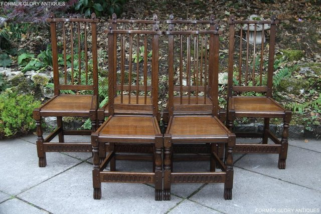 Image 45 of A NIGEL RUPERT GRIFFITHS OAK DINING SET TABLE & SIX CHAIRS