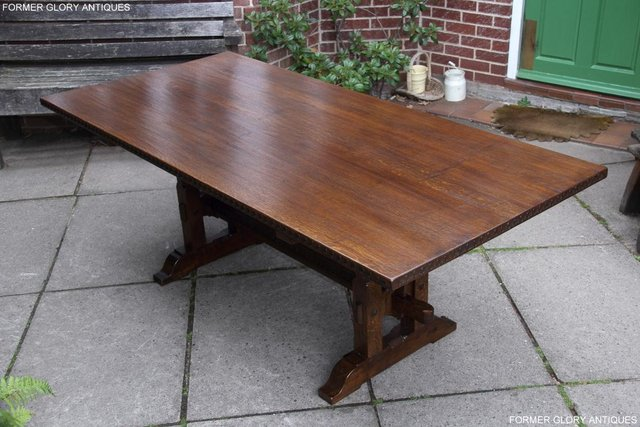 Image 46 of A NIGEL RUPERT GRIFFITHS OAK DINING SET TABLE & SIX CHAIRS