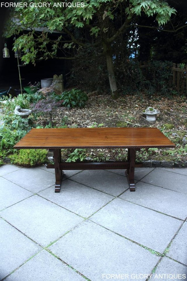 Image 51 of A NIGEL RUPERT GRIFFITHS OAK DINING SET TABLE & SIX CHAIRS