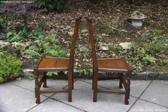 Image 53 of A NIGEL RUPERT GRIFFITHS OAK DINING SET TABLE & SIX CHAIRS