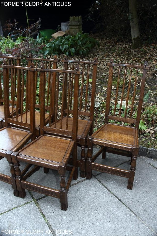 Image 56 of A NIGEL RUPERT GRIFFITHS OAK DINING SET TABLE & SIX CHAIRS