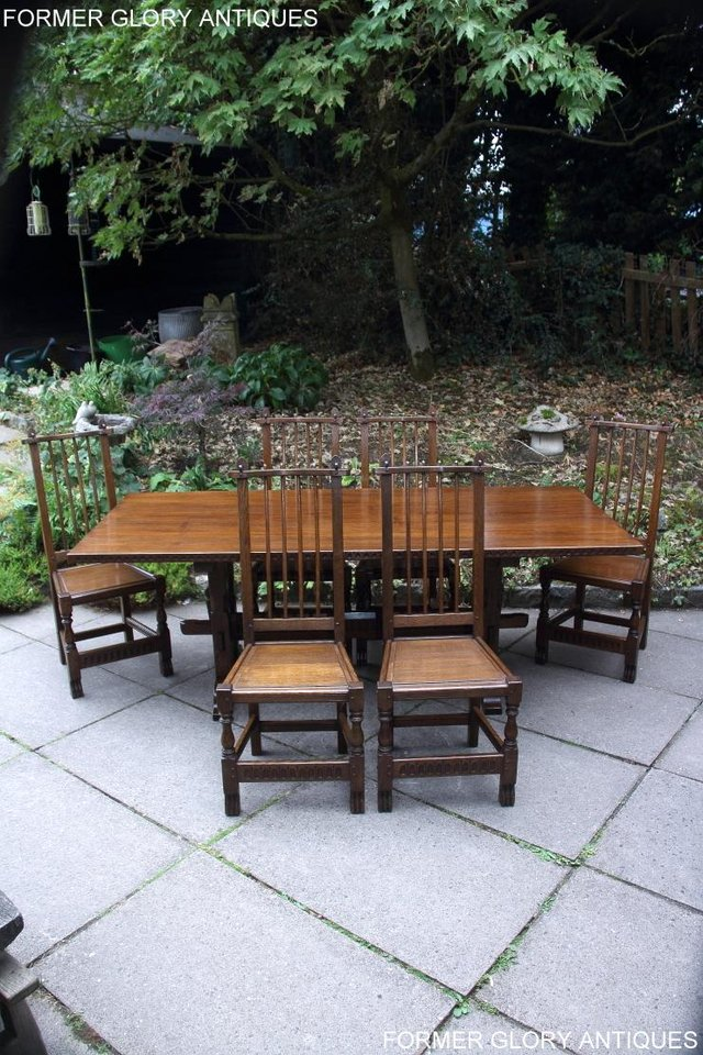 Image 64 of A NIGEL RUPERT GRIFFITHS OAK DINING SET TABLE & SIX CHAIRS