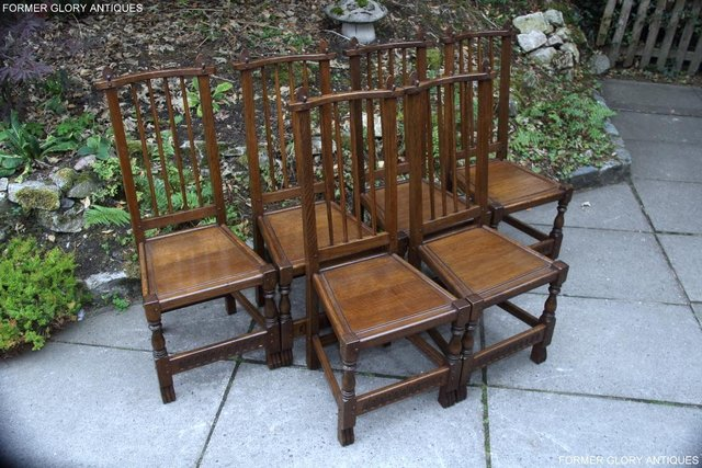 Image 75 of A NIGEL RUPERT GRIFFITHS OAK DINING SET TABLE & SIX CHAIRS