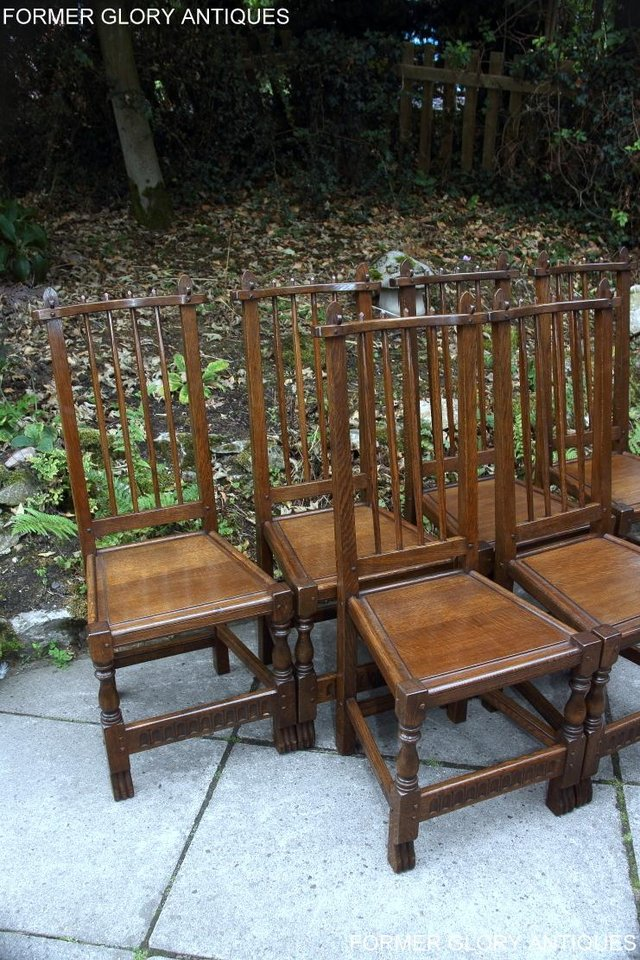 Image 85 of A NIGEL RUPERT GRIFFITHS OAK DINING SET TABLE & SIX CHAIRS