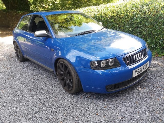 Preview of the first image of audi s3 2001 nogaro blue 336 bhp dyno water meth injection.