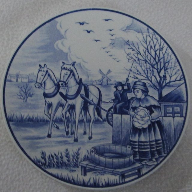 Image 2 of Royal Delfts Blauw Wall plate (Incl P&P)