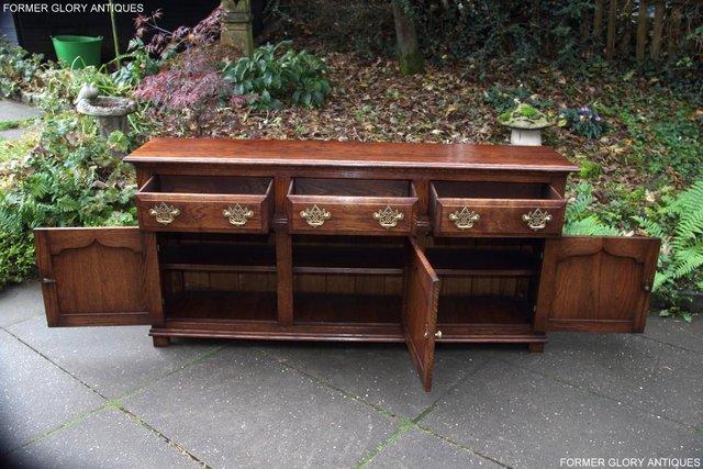 Image 5 of TITCHMARSH & GOODWIN STYLE OAK DRESSER BASE SIDEBOARD TABLE