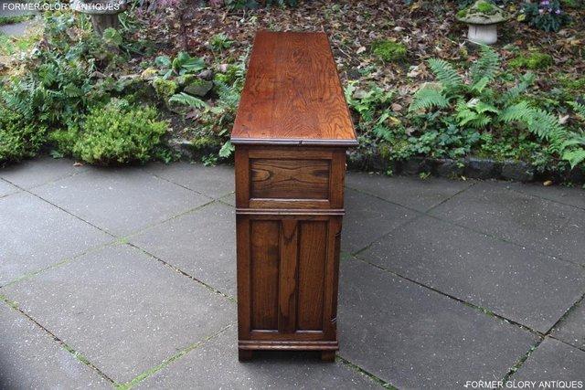 Image 10 of TITCHMARSH & GOODWIN STYLE OAK DRESSER BASE SIDEBOARD TABLE