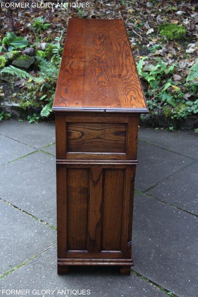 Image 28 of TITCHMARSH & GOODWIN STYLE OAK DRESSER BASE SIDEBOARD TABLE