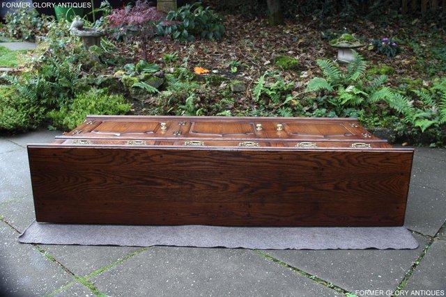 Image 29 of TITCHMARSH & GOODWIN STYLE OAK DRESSER BASE SIDEBOARD TABLE