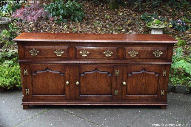Image 61 of TITCHMARSH & GOODWIN STYLE OAK DRESSER BASE SIDEBOARD TABLE