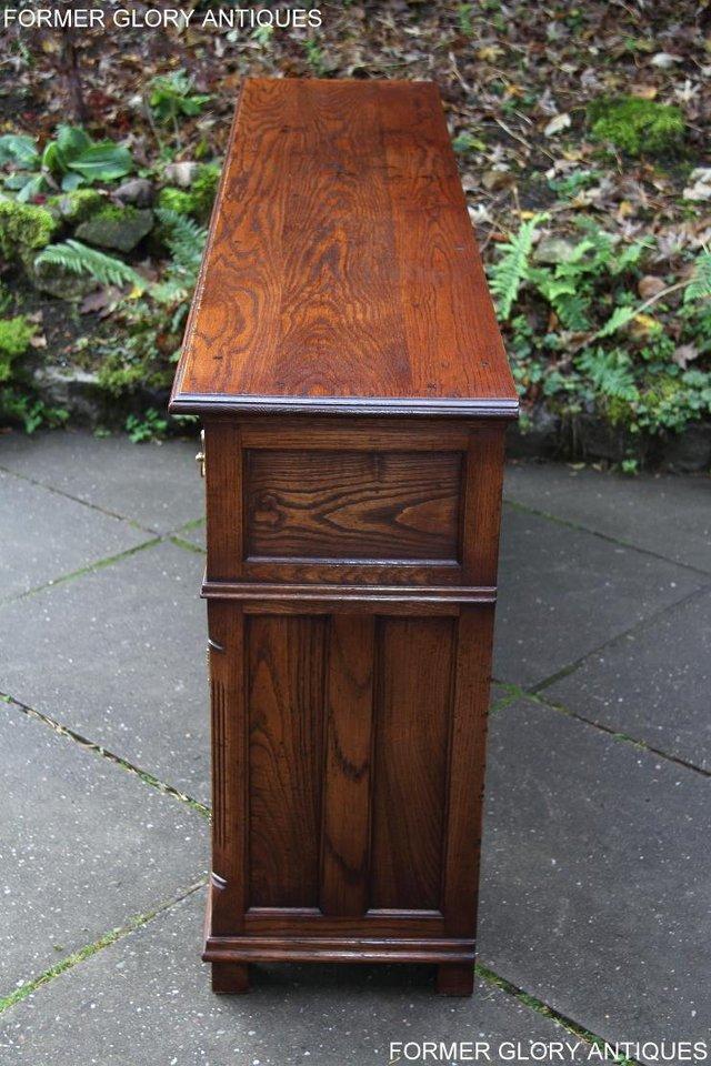 Image 64 of TITCHMARSH & GOODWIN STYLE OAK DRESSER BASE SIDEBOARD TABLE
