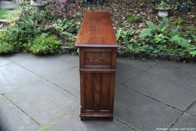 Image 66 of TITCHMARSH & GOODWIN STYLE OAK DRESSER BASE SIDEBOARD TABLE