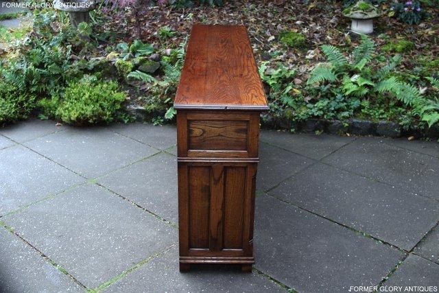 Image 69 of TITCHMARSH & GOODWIN STYLE OAK DRESSER BASE SIDEBOARD TABLE