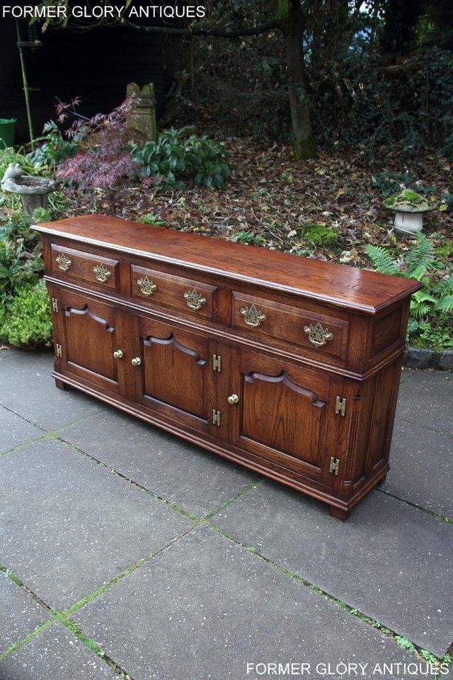 Image 84 of TITCHMARSH & GOODWIN STYLE OAK DRESSER BASE SIDEBOARD TABLE