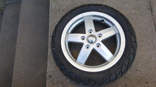 Image 2 of Piaggio Vespa Complete Spare Wheel.