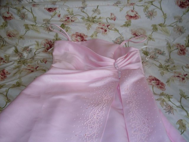 Image 2 of PINK EVENING GOWN/DRESS BY POLKA (USA) SIZE 12-14 ,NEW ITEM