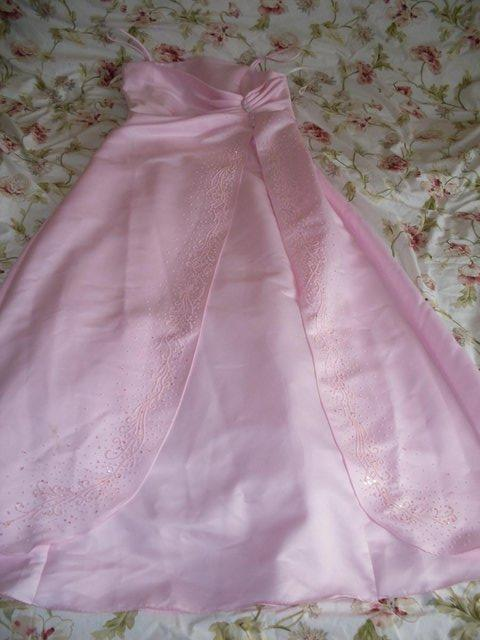 Preview of the first image of PINK EVENING GOWN/DRESS BY POLKA (USA) SIZE 12-14 ,NEW ITEM.