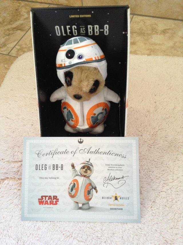 Baby Oleg as BB-8 Limited edition toy For Sale in Nr Howden, East Yorkshire  | Preloved