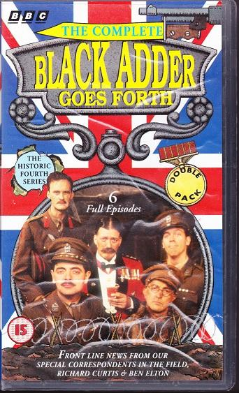 Preview of the first image of 3 sets of VHS tapes of Blackadder Series 1,3,4.