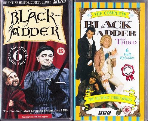 Image 2 of 3 sets of VHS tapes of Blackadder Series 1,3,4