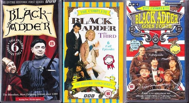 Image 3 of 3 sets of VHS tapes of Blackadder Series 1,3,4