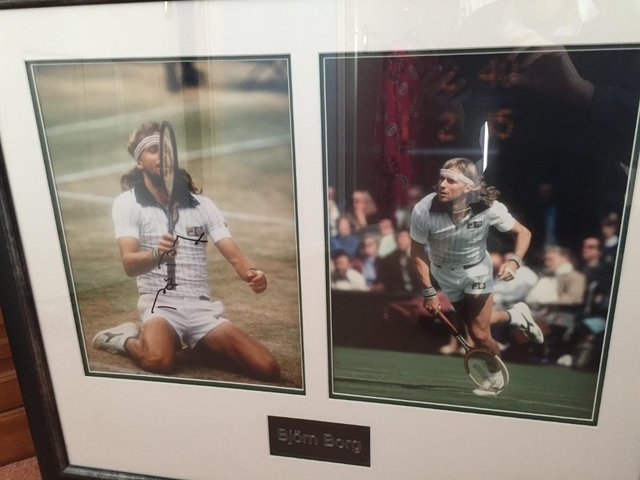 Image 2 of Bjorn Borg Framed Signed Photo - PRICE DROP