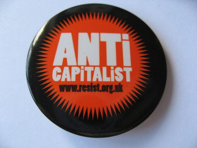ANTi CAPiTALiST – Resist dot org Badge Pin For Sale in Truro, Cornwall |  Preloved
