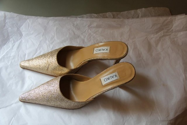 Image 5 of Kaliko Brand - Gold Sparkle Shoes – Size 5 / 38