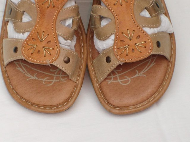 Image 4 of PAVERS FLY FLOT Leather Sandal Shoes – Size 5/38 NEW