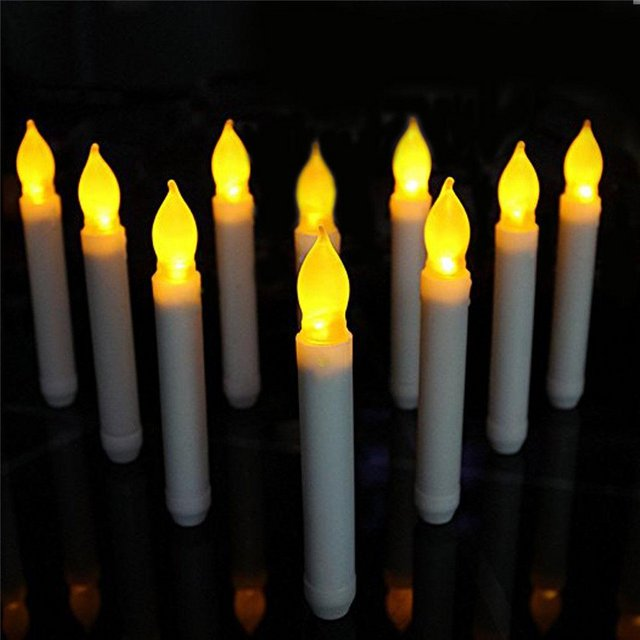 Preview of the first image of LED Flameless Flickering Battery Candles safe and realistic.