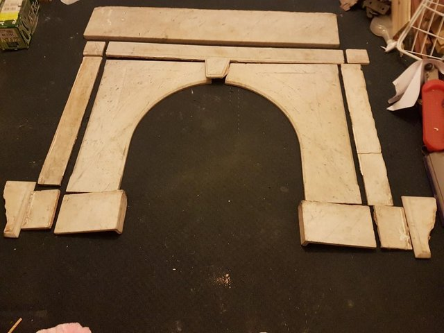 Image 2 of Marble Fire Surround & Cast Iron Fire surround & Accessories