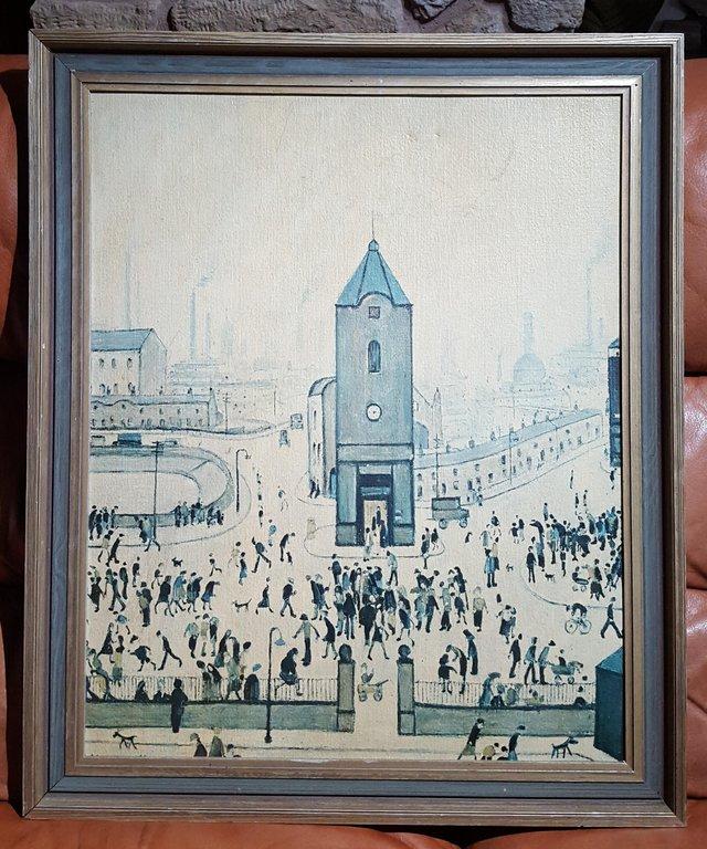 "Image 2 of L S Lowry Vintage ""Town Centre"" picture TFQK"