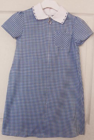 7f62c2ecc GIRLS BLUE CHECK SUMMER DRESS - AGE 6/7 YRS For Sale in ...